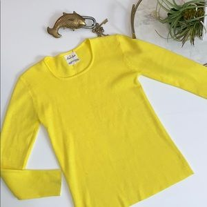 Vintage Bright yellow long sleeve